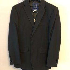 Suit jacket, suit pant, button down colored